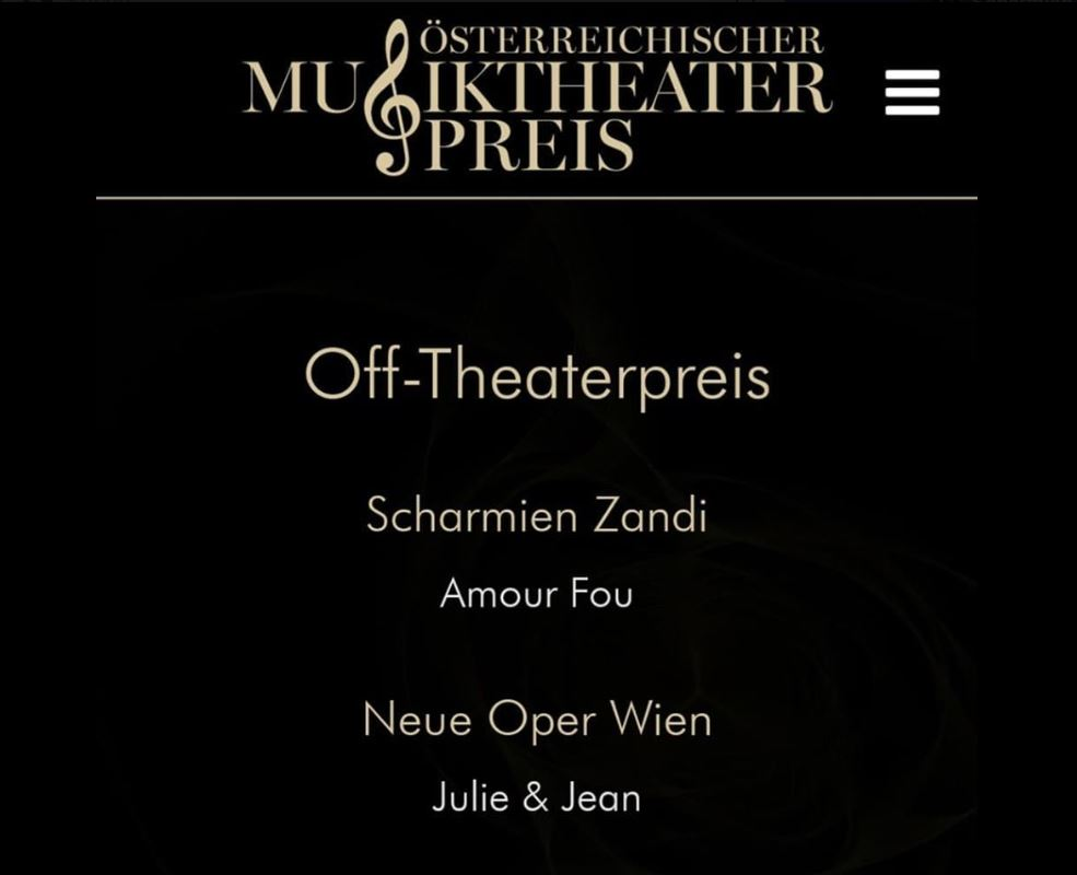 Musiktheaterpreis Nominierung